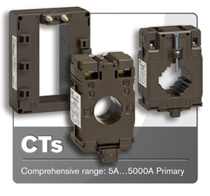 Comprehensive range of current transformers in stock from 5A to 5000A.